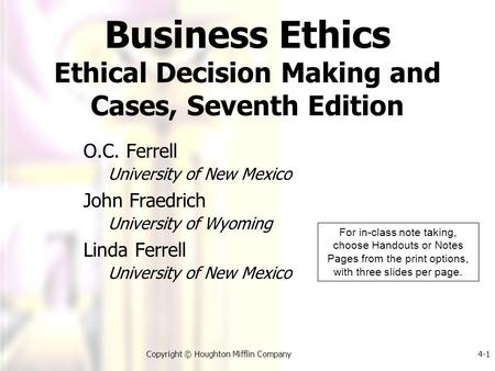 The Institutionalization of Business Ethics - ppt download
