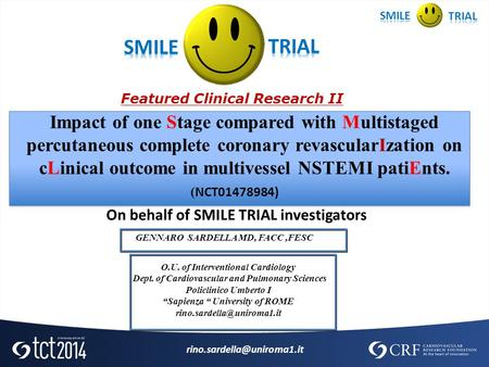 SMILE TRIAL Featured Clinical Research II