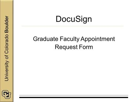Graduate Faculty Appointment Request Form - ppt download