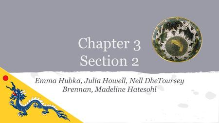 Chapter 3 Section 2 Emma Hubka, Julia Howell, Nell DheToursey Brennan, Madeline Hatesohl.