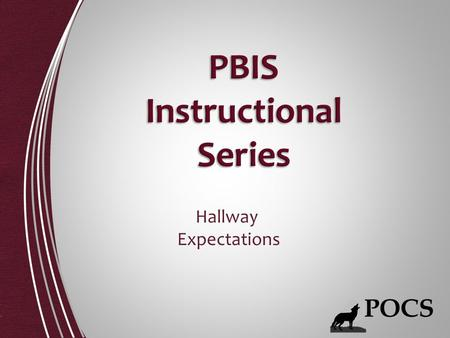 PBIS Instructional Series