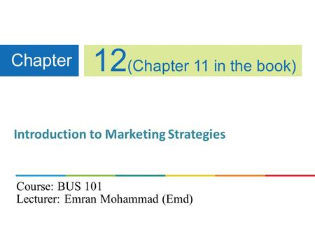 Introduction to Marketing Strategies