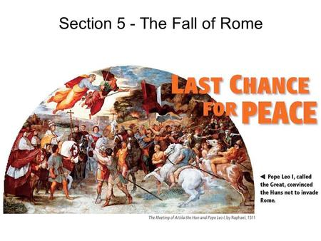 Section 5 - The Fall of Rome