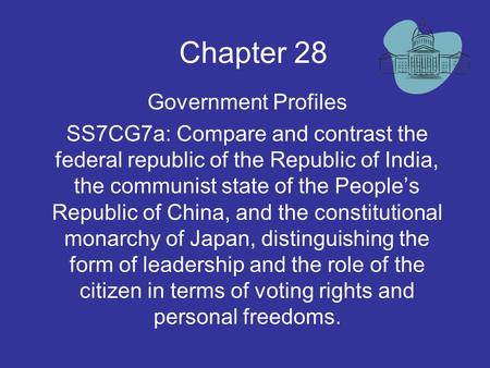 Chapter 28 Government Profiles