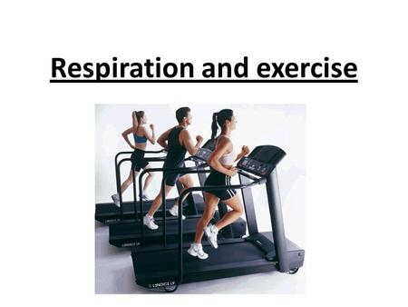 Respiration and exercise