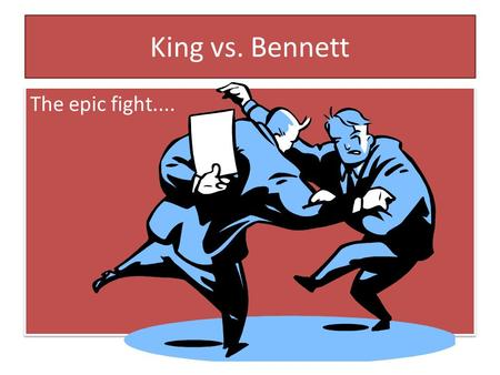 King vs. Bennett The epic fight..... The Players William Lyon Mackenzie King (Liberal Party) December 17, 1874 – July 22, 1950 Canada's longest serving.