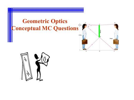 Geometric Optics Conceptual MC Questions. If the image distance is positive, the image formed is a (A) real image. (B) virtual image.