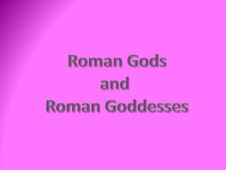 Roman Religion Before Christianity, the Romans prayed to hundreds of different gods. Everyone made sacrifices in the temple or their home to keep the.