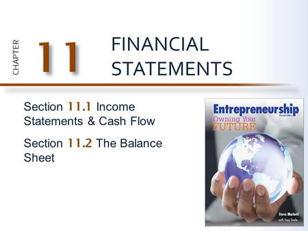 11 FINANCIAL STATEMENTS Section 11.1 Income Statements & Cash Flow