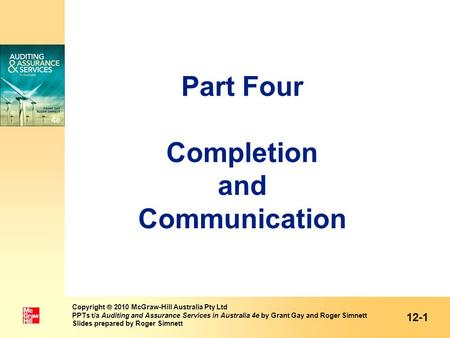 Part Four Completion and Communication