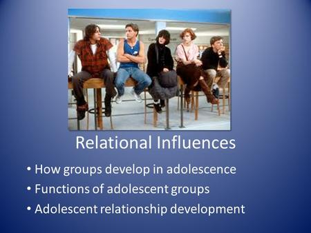peer group influence in relation to Peer social status and self-esteem 3 during a day, most people are part of several different groups these different group constellations bring out varying traits and qualities in different people.