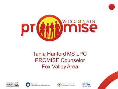 Tania Hanford MS LPC PROMISE Counselor Fox Valley Area.