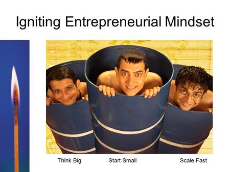 Igniting Entrepreneurial Mindset Think Big Start Small Scale Fast.