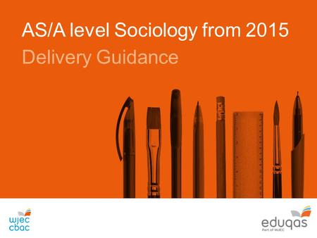 AS/A level Sociology from 2015