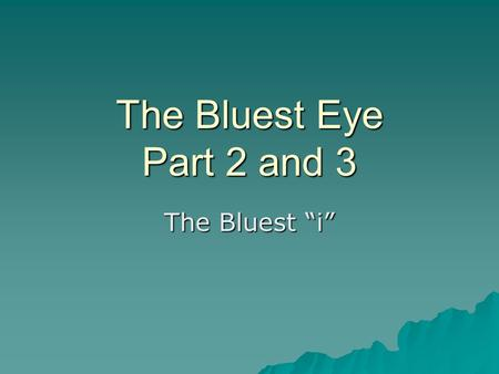 the bluest eye thesis statement