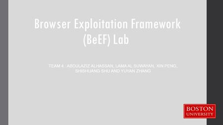 Browser Exploitation Framework (BeEF) Lab