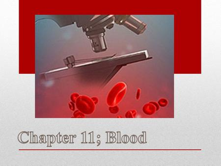 Chapter 11; Blood.