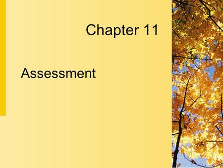 Assessment Chapter 11. 11-2 Copyright 2004 by Delmar Learning, a division of Thomson Learning, Inc. Assessment  Assessment is the first step in the nursing.