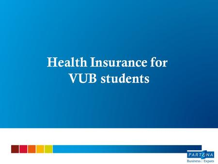 Health Insurance for VUB students.