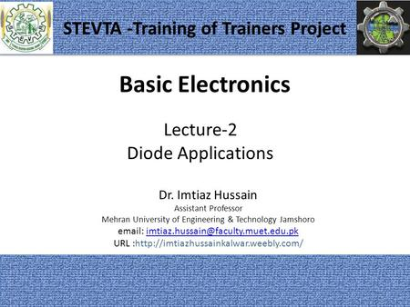 STEVTA -Training of Trainers Project