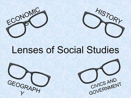 Lenses of Social Studies