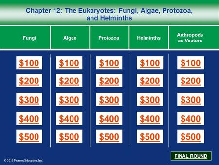 Chapter 12: The Eukaryotes: <strong>Fungi</strong>, Algae, Protozoa, <strong>and</strong> Helminths