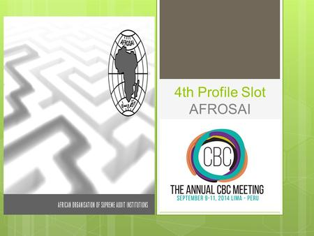 4th Profile Slot AFROSAI. Summary Few words on AFROSAI Some Success Stories:  Learning by doing through cooperative Audits  CREFIAF Gender Strategy.