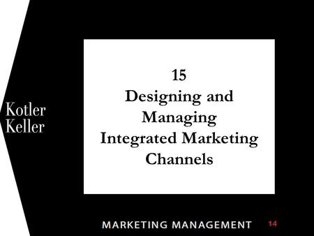 15 Designing and Managing Integrated Marketing Channels 1.