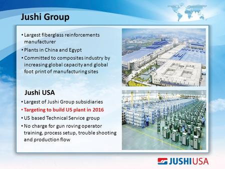 Jushi Group Largest fiberglass reinforcements manufacturer
