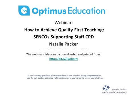 How to Achieve Quality First Teaching: SENCOs Supporting Staff CPD