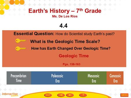 Earth's History – 7th Grade