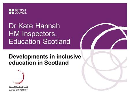Dr Kate Hannah HM Inspectors, Education Scotland