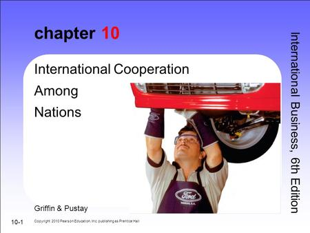 chapter 10 International Cooperation Among Nations