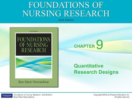 9 Quantitative Research Designs.