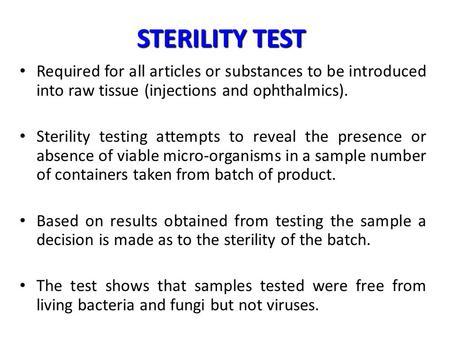 STERILITY TESTING PROCEDURE PDF DOWNLOAD