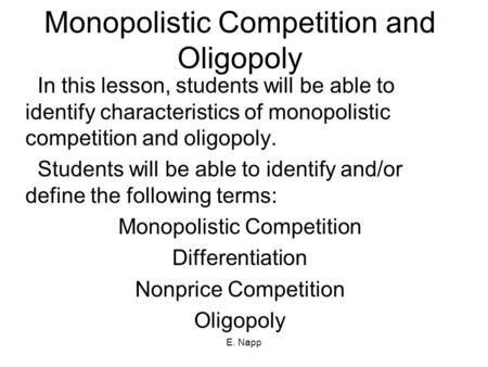 what role does a monopoly and oligopoly market structure play in the economy An oligopoly consists of a select few companies having significant influence over an industry industries like oil & gas, airline, mass media, auto, and telecom are all examples of oligopolies.