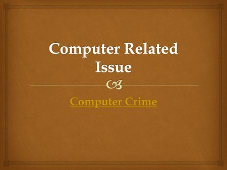 Computer Related Issue