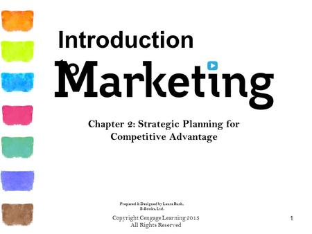 Copyright Cengage Learning 2013 All Rights Reserved 1 Chapter 2: Strategic Planning for Competitive Advantage Prepared & Designed by Laura Rush, B-Books,