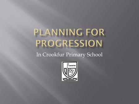 In Crookfur Primary School.  5-14 Assessment  Standardised Test information  Gathered assessment information termly  Target Setting  Skills planner.