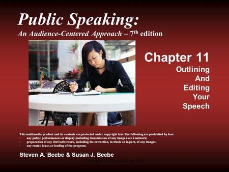 Public Speaking: An Audience-Centered Approach – 7th edition