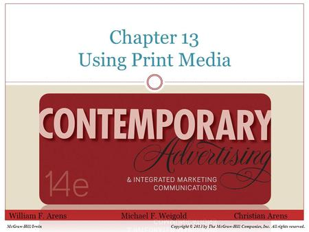 Chapter 13 Using Print Media