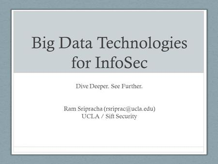 Big Data Use Cases And Requirements Ppt Download
