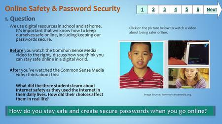 We use digital resources in school and at home. It's important that we know how to keep ourselves safe online, including keeping our passwords secure.