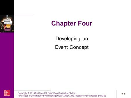 Developing an Event Concept