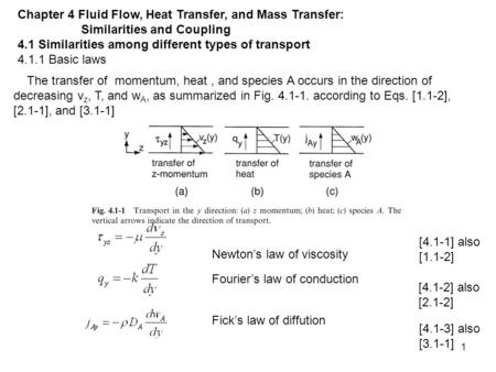 Chapter 4 Fluid Flow, Heat Transfer, and Mass Transfer: