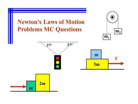 Newton's Laws of Motion Problems MC Questions