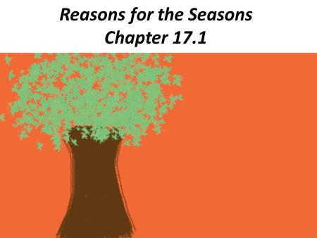 Reasons for the Seasons Chapter 17.1