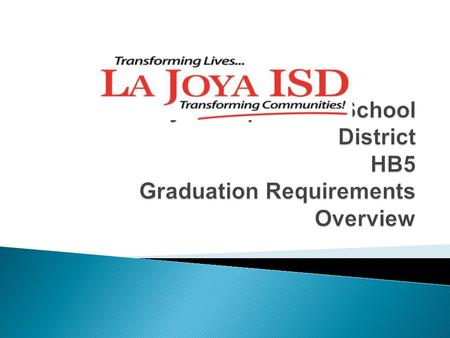  Students will identify the Foundation High School Program Graduation Requirements.  Students will identify minimum course requirements at their college.