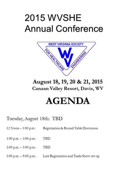 2015 WVSHE Annual Conference