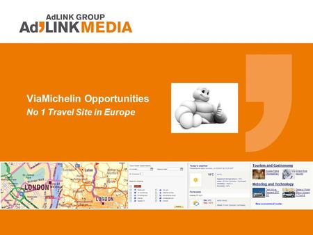 ViaMichelin Opportunities No 1 Travel Site in Europe.